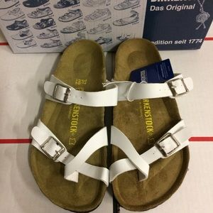 Birkenstock White Mayari Sandals